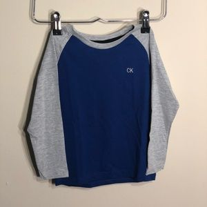 Calvin Klein 3T blue long sleeve baseball tee
